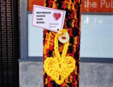 Braybrook Yarn Bombing.jpg