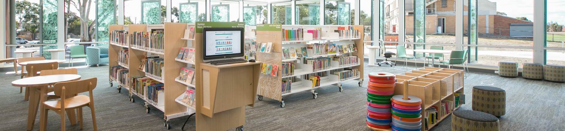 Interior of Braybrook Library.