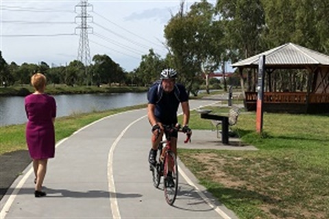 Walking and cycling trails image